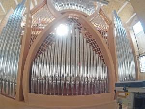 Basilica Quartu St. Elena organ during pre-assembly in the Ruffatti factory