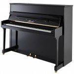 H 115 Black Polish Haessler Upright Piano