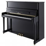 H 124 Black Polish Haessler Upright Piano